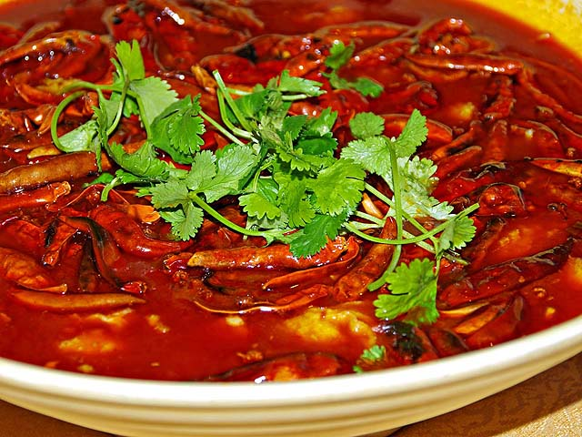 Restaurant photos ancient szechuan happy golden bowl for Boiled fish recipe